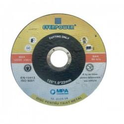 DISC TAIAT METAL 125 X 1 X 22 MM