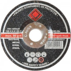 DISC RED SQUARE 125 X 2.5 MET